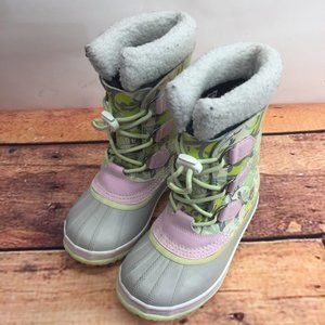 Girl´s SOREL Kids Winter Boots Size 1 Snow multico